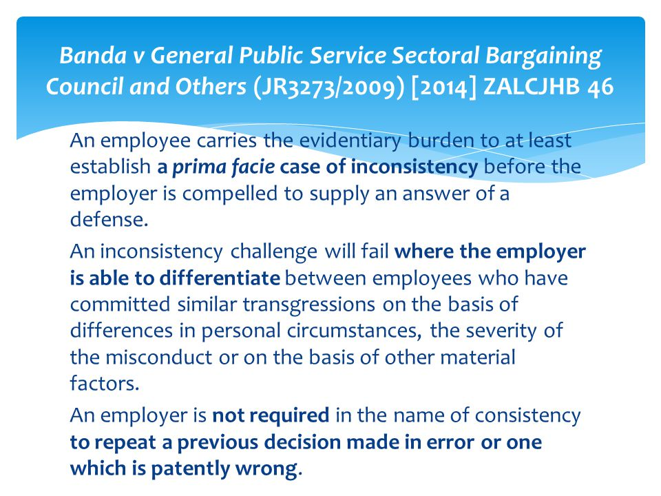 Banda v General Public Service Sectoral Bargaining Council and Others (JR3273/2009) [2014] ZALCJHB 46